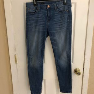 J Crew High Rise Toothpick Jeans